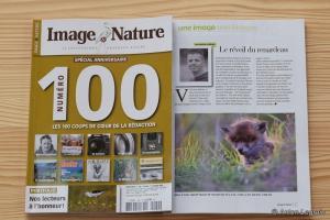 mon image de renardeau dans le magazine Image et Nature spécial anniversaire le 10 août 2018